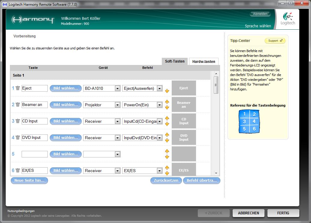 logitech harmony 650 software