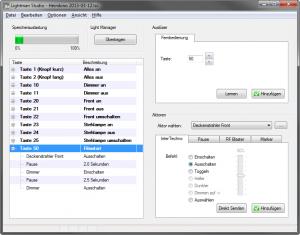 Screenshot der Lightman Studio Software
