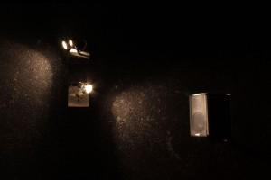 Wandlampen und ein Lautsprecher