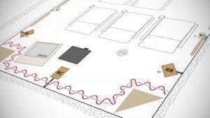 Ausschnitt eines Heimkino-Bauplans.