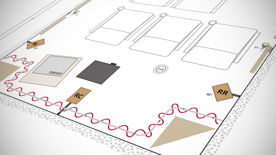 Ausschnitt eines Heimkino-Bauplans