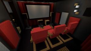 Mein Heimkino in Minecraft nachgebaut