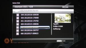 Falsch sortierte Dateien im Menü des Yamaha BD-A1010
