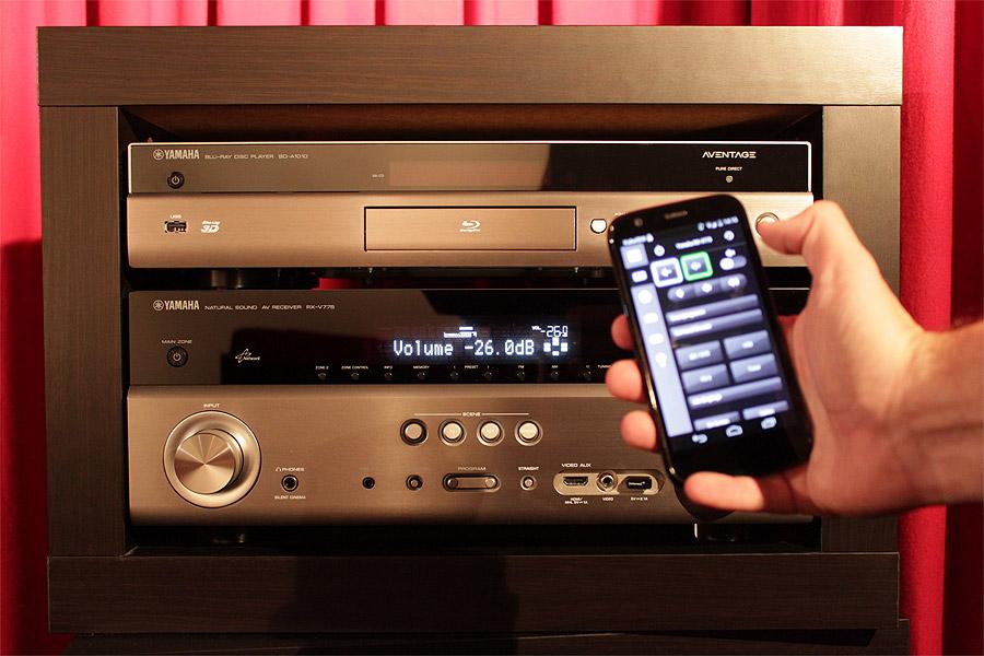 Netzwerksteuerung eines Yamaha AV-Receivers durch die App