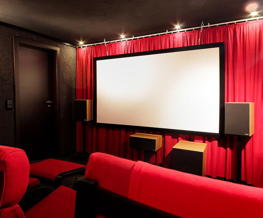 Kino-Front aus Sicht der Sitzposition