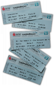 Kino-Eintrittskarten