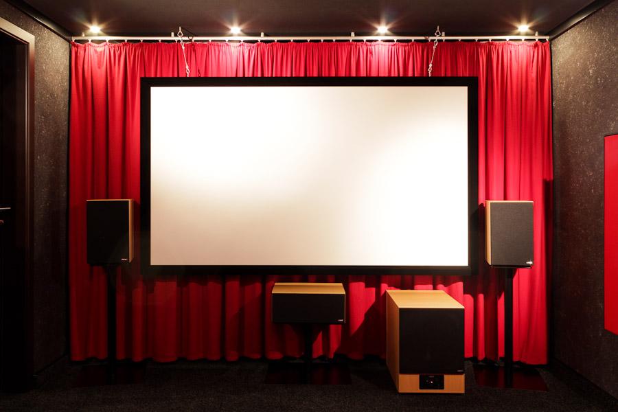 Um Kino-Atmosphäre zu erzeugen, braucht man nicht unbedingt einen eigenen Kinoraum