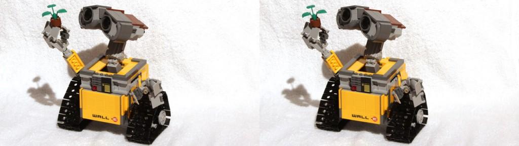 Lego-Modelle wie dieser Wall·E eignen sich hervorragend für die 3D-Fotografie