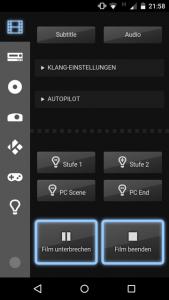 Filmende mit Lichtsteuerung und manueller Abschaltung – die Basis der Heimkino-Automatisierung