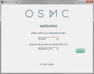 Der OSMC Installer zum Beschreiben der SD-Karte für den Raspberry Pi