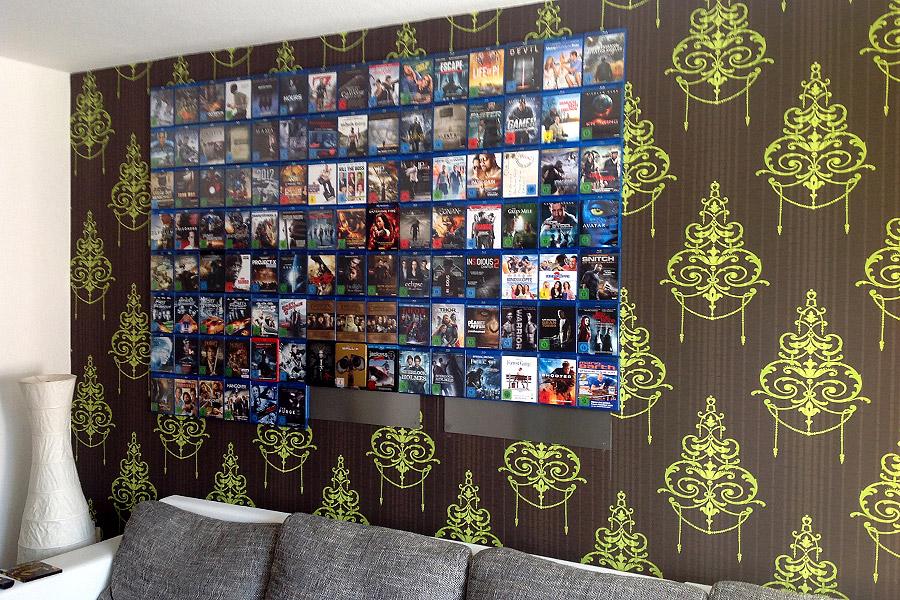 Eine Menge CD-Walls können eine ganze Wand mit Blu-rays ausstatten