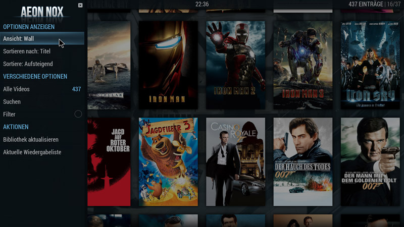 Kodi Movie Wall