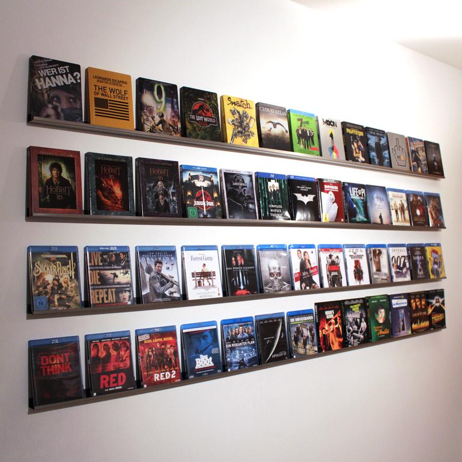 Blu-ray-Wandregal Marke Eigenbau: Die Videothek zuhause ...