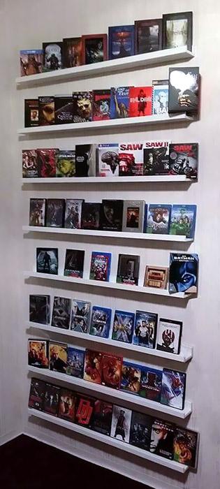 8 IKEA Mosslanda Bildleisten schaffen reichlich Platz für Blu-rays und Dekoration