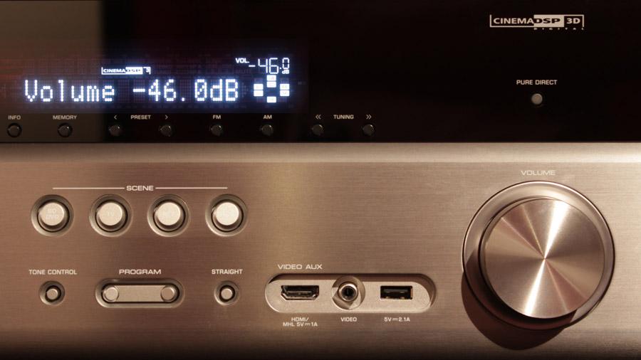 Einstellung der Lautstärke am AV-Receiver