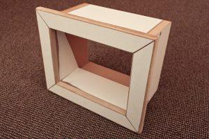 Ein Rahmen für einen Wanddurchlass, Ansicht von vorn