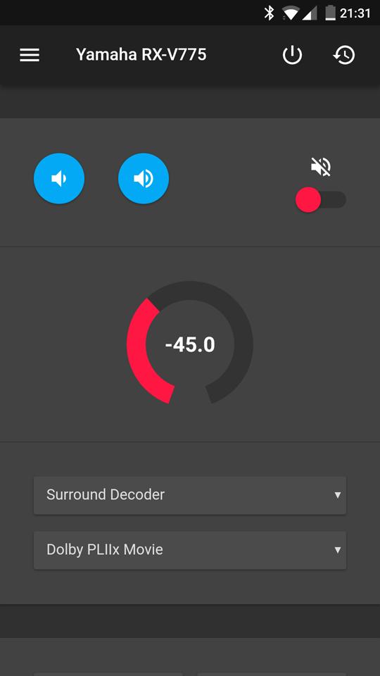 Eine Web-App mit Lautstärkeregler und verschiedenen Einstellmöglichkeiten