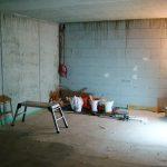 Der leere Kinoraum bei ersten Bauvorbereitungen