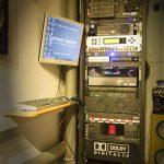 Der Technikraum des Mayerplex mit Vorschaumonitor