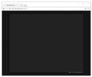 Browserfenster mit aktivem Vorschaubild, auf dem jedoch nichts zu sehen ist.