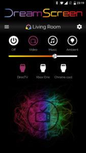 Hauptansicht in der DreamScreen-App