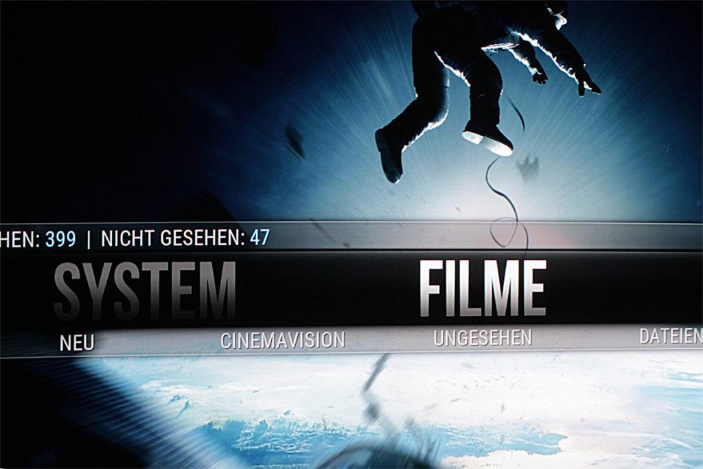 Kodi Startbildschirm künstlich mit Photoshop-Filter geschärft