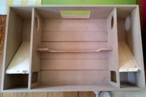 Grundaufbau einer Hushbox aus Holz.