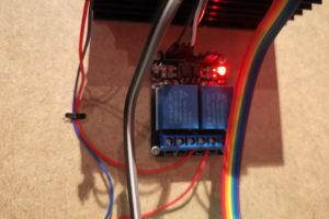 Ein Relais, das über einen Raspberry Pi gesteuert werden kann.