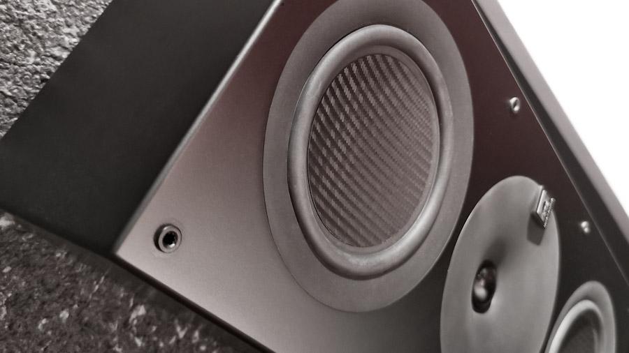 Nahaufnahme einer Lautsprecher-Front