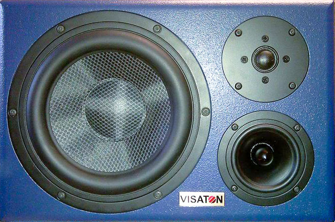 Die Front eines Selbstbau-Lautsprechers von Visaton, der Vision BS