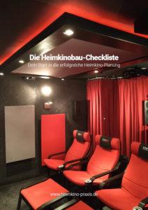 Titelseite: Die Heimkinobau-Checkliste – Dein Start in die erfolgreiche Heimkino-Planung