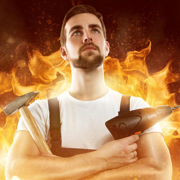 Ein Heimkino-Handwerker brennt buchstäblich für seine Aufgabe.